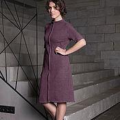 """Одежда ручной работы. Ярмарка Мастеров - ручная работа Платье """"вертикаль"""" фиолетовое платье из ангоры. Handmade."""