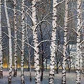 Картины и панно handmade. Livemaster - original item Moscow birches. (artist Vladimir Tarasov). Handmade.