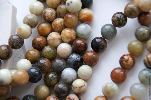 Для украшений ручной работы. Ярмарка Мастеров - ручная работа. Купить Нефрит бусины ТАВОЛГА , природный камень 12 мм. Handmade.