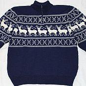 Одежда handmade. Livemaster - original item Zipper sweater with deer. Handmade.