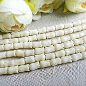Материалы для творчества handmade. Livemaster - original item coral bead tulip 8 x 5 mm, white (art. 2063). Handmade.