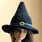 Куклы и игрушки handmade. Livemaster - original item Witch hat for Barbie. Halloween. Pointy hat. Handmade.