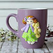 """Посуда ручной работы. Ярмарка Мастеров - ручная работа Чашка """" С мишкой"""". Handmade."""