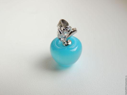 Для украшений ручной работы. Ярмарка Мастеров - ручная работа. Купить Кулон Яблоко голубой опал в серебре 925 пробы. Handmade.
