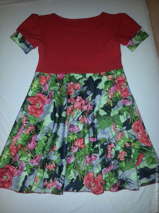 Одежда для девочек, ручной работы. Ярмарка Мастеров - ручная работа. Купить платье повседневное    2. Handmade. Цветочный, платье для девочки