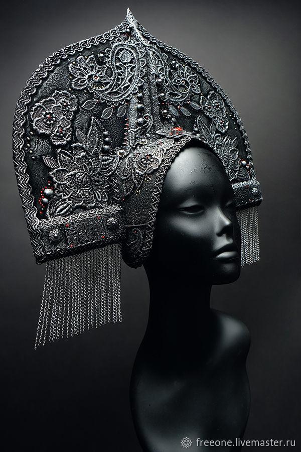 Кокошник. ELA. Темное Серебро, Народные украшения, Москва,  Фото №1