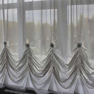 Текстиль ручной работы. Ярмарка Мастеров - ручная работа Австрийская штора. Handmade.
