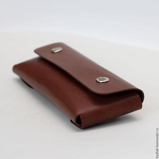 Пеналы ручной работы. Ярмарка Мастеров - ручная работа. Купить Кожаный пенал для ручек Tube (коричневый). Handmade. Коричневый, хранение