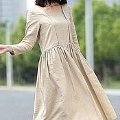 Одежда ручной работы. Ярмарка Мастеров - ручная работа Бежевое платье Платье бежевое Платье длинное. Handmade.
