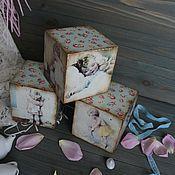 """Для дома и интерьера ручной работы. Ярмарка Мастеров - ручная работа Кубики """"Нежный возраст"""". Handmade."""