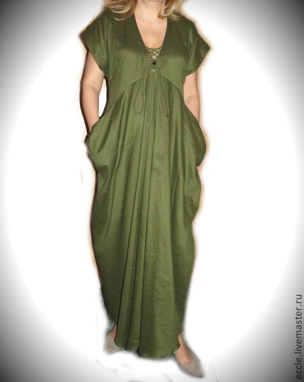 Как удлинить льняное платье