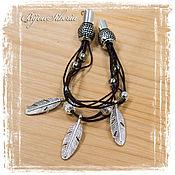 Украшения handmade. Livemaster - original item bracelet on leather cord