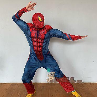 Дизайн и реклама ручной работы. Ярмарка Мастеров - ручная работа Куклы: Костюм человек-паук с мышцами. Handmade.