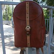 Сумки и аксессуары handmade. Livemaster - original item leather backpack red. Handmade.