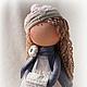 Коллекционные куклы ручной работы. Текстильная кукла Рита. Hauswerkstatt Tatjana Fetter. Ярмарка Мастеров. Подарок девушке, интерьерная кукла