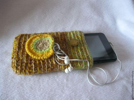 Для телефонов ручной работы. Ярмарка Мастеров - ручная работа. Купить ЧЕХОЛ для iPad вязаный (планшета, смартфона, жесткого диска). Handmade.