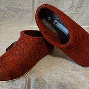 Обувь ручной работы. Ярмарка Мастеров - ручная работа Тапки валяные женские и мужские, натуральная овечья шерсть. Handmade.