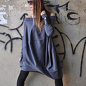 Одежда handmade. Livemaster - original item Stylish tunic blouse with dropped shoulders - TU0471PM. Handmade.