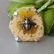 Украшения handmade. Livemaster - original item Agate Bee Ring. Handmade.