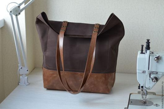 большая кожаная сумка шоппер, большая замшевая сумка шоппер, кожаная сумка пакет, Ирина Болдина, кожаная сумка коричневая, кожаная сумка рыжая, кожаная сумка большая