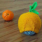 Работы для детей, ручной работы. Ярмарка Мастеров - ручная работа Вязаная шапочка для фотосессии Апельсин. Handmade.