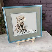 Картины и панно handmade. Livemaster - original item Picture cross stitch Dalmatian Puppy cross Stitch. Handmade.