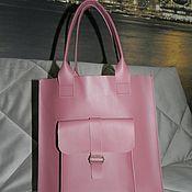 Классическая сумка ручной работы. Ярмарка Мастеров - ручная работа Большая сумка шоппер из натуральной кожи. Handmade.