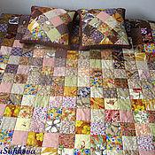 """Для дома и интерьера ручной работы. Ярмарка Мастеров - ручная работа Лоскутное покрывало """"Крем-брюле"""" и 2 подушки. Handmade."""
