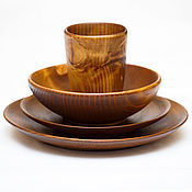 Посуда handmade. Livemaster - original item Wooden Dining Set (3#33. Handmade.