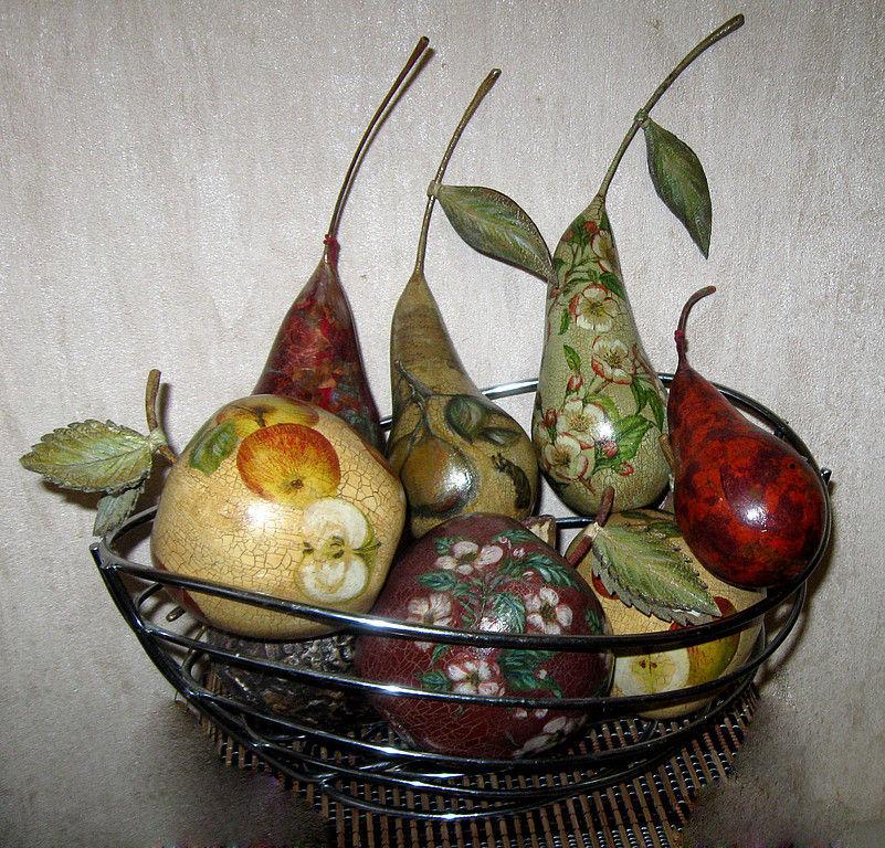 Как сделать декоративные фрукты 631