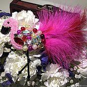 """Брошь-булавка ручной работы. Ярмарка Мастеров - ручная работа Брошь """"Фламинго"""". Handmade."""