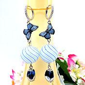 Украшения handmade. Livemaster - original item Silver earrings with blown balls lampwork