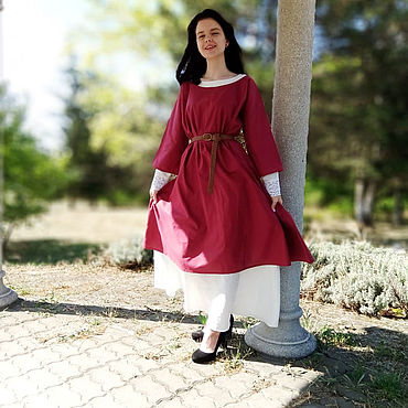 Clothing. Livemaster - original item Dress linen Glorious Gerda 2 in 1; 3 bright images in 1 set. Handmade.