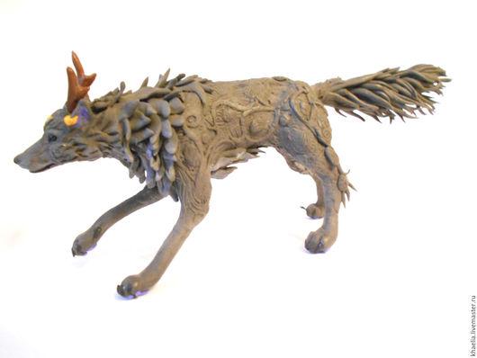 Сказочные персонажи ручной работы. Ярмарка Мастеров - ручная работа. Купить Серый волк-пират (волк, фигурка волка). Handmade.