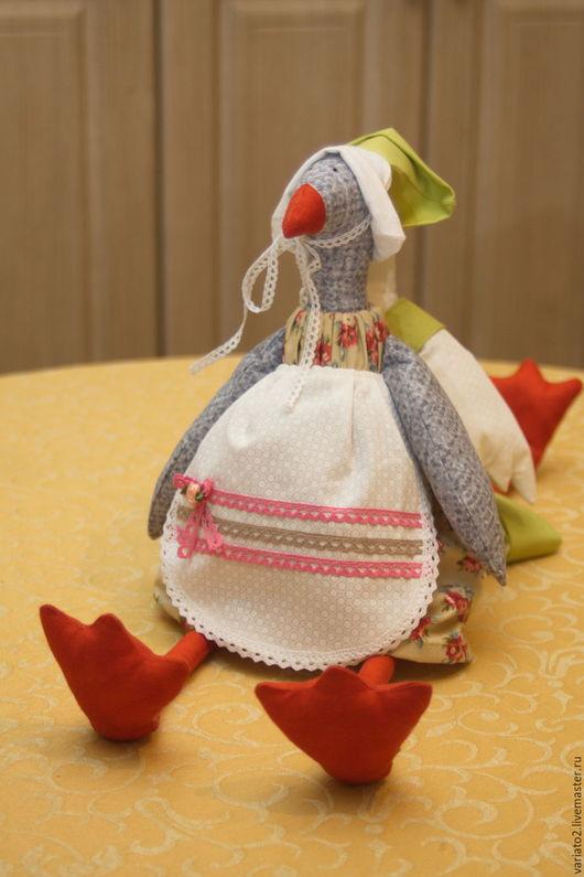 Куклы Тильды ручной работы. Ярмарка Мастеров - ручная работа. Купить Два веселых гуся. Handmade. Серый, зеленый