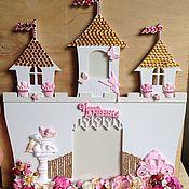 Подарки к праздникам ручной работы. Ярмарка Мастеров - ручная работа Рамка для фотографии в виде замка. Handmade.
