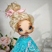 Куклы и пупсы ручной работы. Ярмарка Мастеров - ручная работа Кукла текстильная авторская красивая куколка блондинка в бирюзовом. Handmade.
