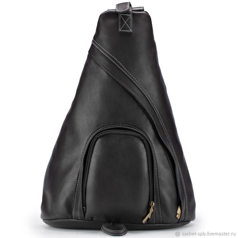 Leather backpack 'Phobos' (black), Backpacks, St. Petersburg,  Фото №1