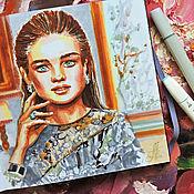 Картины и панно handmade. Livemaster - original item Diva - painting on paper. Handmade.