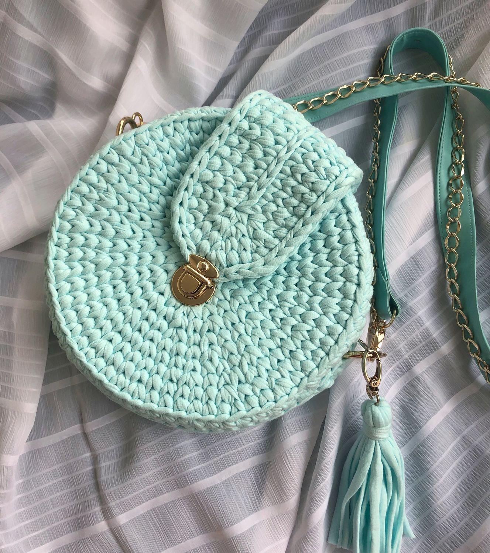 Круглая сумка из трикотажной пряжи, Классическая сумка, Самара,  Фото №1