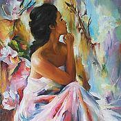 Картины и панно handmade. Livemaster - original item Oil painting Floral mood ,40/80 cm. Handmade.