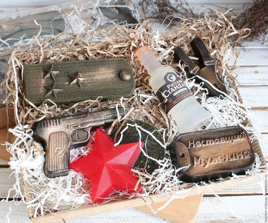 Подарочные наборы косметики ручной работы. Ярмарка Мастеров - ручная работа. Купить мужской набор мыла НАСТОЯЩИЙ ПОЛКОВНИК. Handmade.