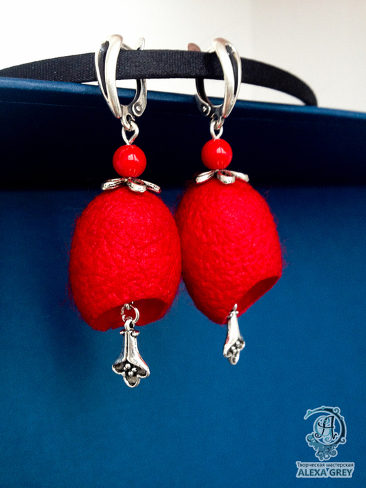 """Серьги ручной работы. Ярмарка Мастеров - ручная работа. Купить Серьги """"Шелковый путь"""" красные с кораллами. Handmade. Ярко-красный"""