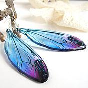Украшения handmade. Livemaster - original item Transparent Earrings Night Dragonfly Wings Night Wings Epoxy Resin. Handmade.