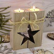 handmade. Livemaster - original item Candlestick with a star. Handmade.