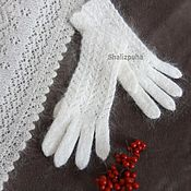 Аксессуары handmade. Livemaster - original item 276, feather Gloves white womens. Handmade.