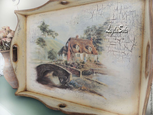 Мебель ручной работы. Ярмарка Мастеров - ручная работа. Купить столик поднос для завтрака в постель  Чудный домик. Handmade. Бежевый