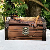 Для дома и интерьера handmade. Livemaster - original item Wooden chest (for storing scrolls and bloodline). Handmade.