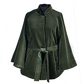 Одежда handmade. Livemaster - original item Cape poncho velvet. Handmade.