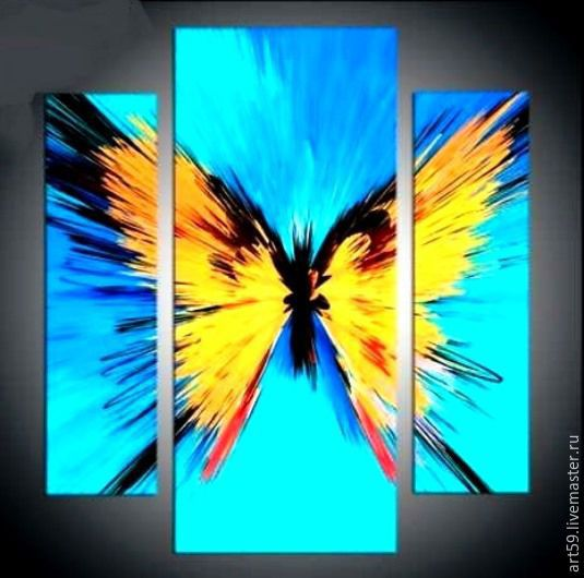 A triptych of Luminous butterfly, Pictures, St. Petersburg,  Фото №1